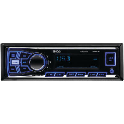 Boss Audio Systems 610UA Single-DIN In-Dash Mechless AM/FM Receiver (Without Bluetooth)