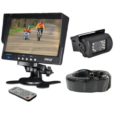 Pyle PLCMTR71 7IN Weatherproof Backup Camera System with IR Night Vision Camera