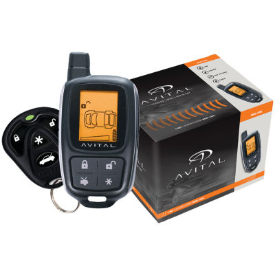 Avital 3305L 3305L Responder 2-Way Security Systemwith 4-Button LCD Remote