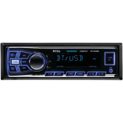 Boss Audio Systems 611UAB Single-DIN In-Dash Mechless AM/FM Receiver (With Bluetooth)