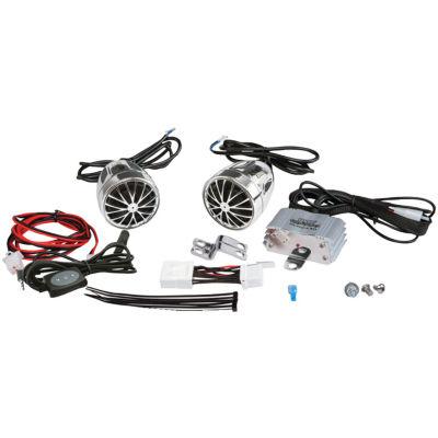 Pyle PLMCA31BT 400-Watt Mounted Motorcycle/ATV/Snowmobile Amp & Weatherproof Dual-Handlebar Speakerswith Bluetooth
