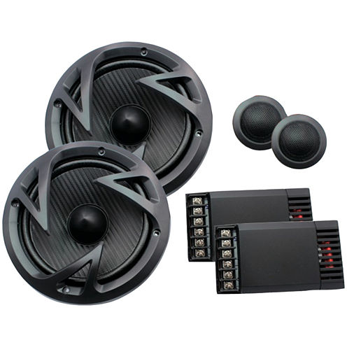 Power Acoustik EF-60C Edge Series 6.5IN 500-Watt 2-Way Component Speaker System