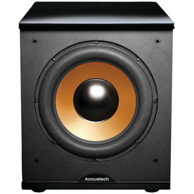 BIC America H-100II 12IN Front-Firing Powered Subwoofer with Black Lacquer Top