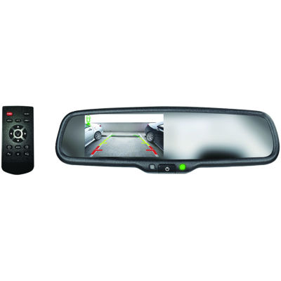 BOYO Vision VTM43M4 4.3IN Rearview Mirror Monitorwith 4 Video Inputs