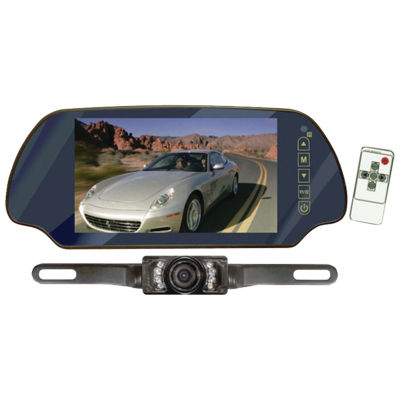 Pyle PLCM7200 7IN LCD Mirror Monitor/Backup NightVision Camera Kit (Without Bluetooth)