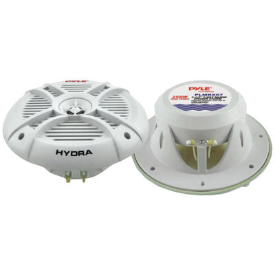 Pyle PLMRX67 Hydra Series Aqua Pro 6.5IN 250-Watt2-Way Marine Speakers