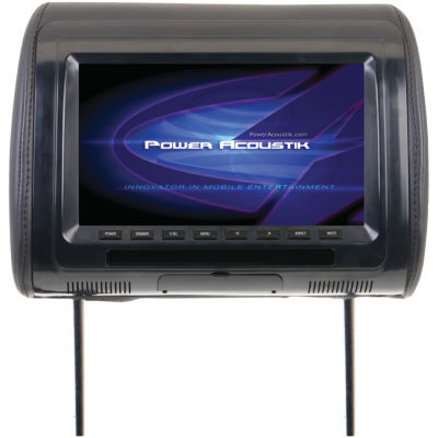Power Acoustik H-91CC Universal Headrest Monitor with IR Transmitter & 3 Interchangeable Skins