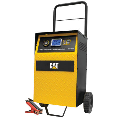 Cat CBC40E 40-Amp Rolling High-Frequency Charger with 110-Amp Engine Start; Alternator Check & Battery Reconditioning
