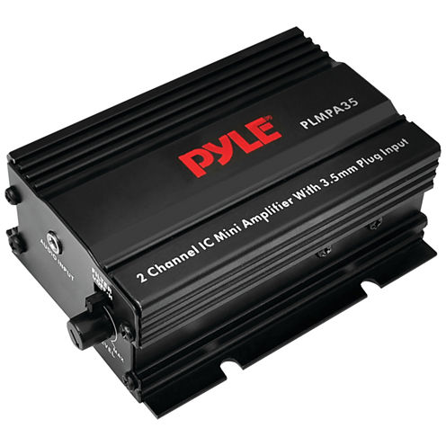 Pyle PLMPA35 300-Watt 2-Channel Mini Class AB Ampwith 3.5mm Stereo Input
