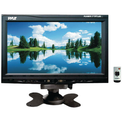 Pyle PLVHR75 7IN Headrest Monitor with Stand & Headrest Shroud