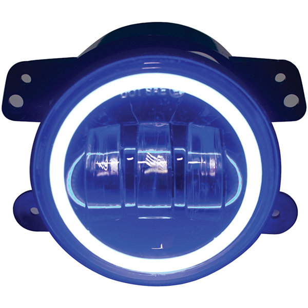 Race Sport Inc. RS-4FHALOB 4IN 30-Watt LED Jeep Fog Light Kit with Cree LED Halo (Blue)