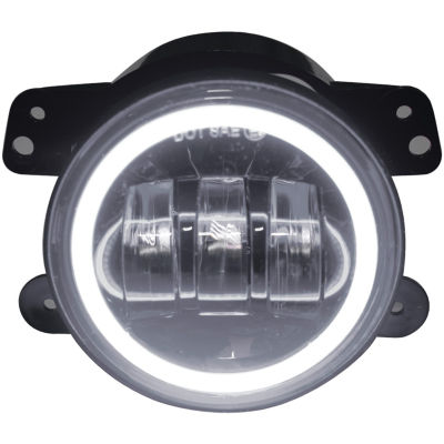Race Sport Inc. RS-4FHALOW 4IN 30-Watt LED Jeep Fog Light Kit with Cree LED Halo (White)