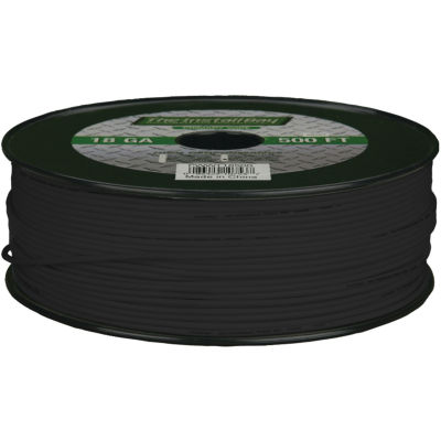 The Install Bay PWBK18500 18-Gauge Primary Wire; 500ft (Black)