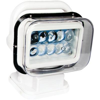 Race Sport Inc. RSM50WW Motorized 50-Watt LED Spotlight with Remote Swivel (White)