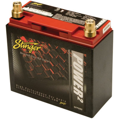 Stinger Electronics SPP680 SPP Series 680-Amp Lead-Acid Battery with Metal Case