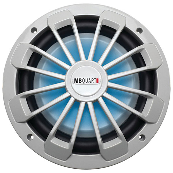 MB Quart NW1-254L Nautic Series 10IN 600-Watt Shallow Subwoofer (With LED Illumination)