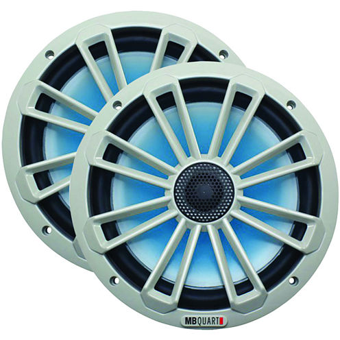 MB QUART NK1-120L Nautic Series 8IN 140-Watt 2-WayCoaxial Speaker System (With LED Illumination)