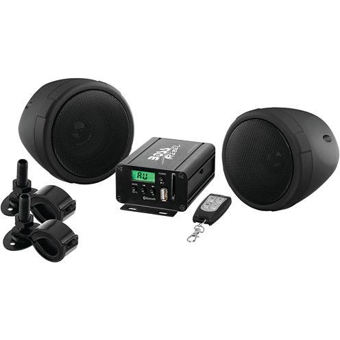 BOSS Audio Systems MCBK520B 600-Watt Motorcycle/ATV Sound System with FM Tuner & Bluetooth (Black)