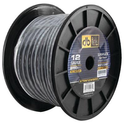 DB Link STSW12WG250 Superflex Series White/Gray Speaker Wire (12 Gauge; 250ft)
