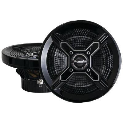 Bazooka MAC8100B Marine 2-Way Coaxial Speakers (8IN; Black)