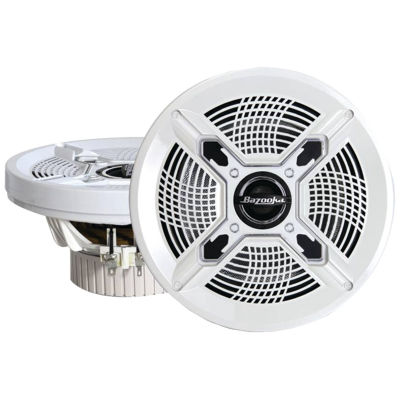 Bazooka MAC8100W Marine 2-Way Coaxial Speakers (8IN; White)