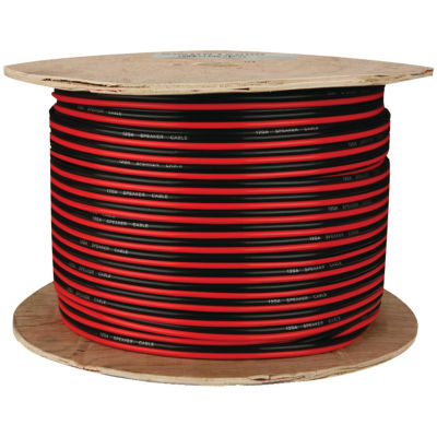 The Install Bay SWRB16-500 Red/Black Paired Primary Speaker Wire; 500ft (16 Gauge)