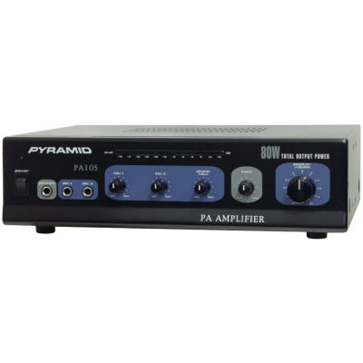 Pyramid Car Audio PA105 Amp with Microphone Input(80 Watt)