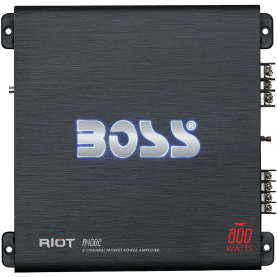 BOSS Audio Systems R4002 Riot Series Full-Range Class AB Amp (2 Channels; 800 Watts max)