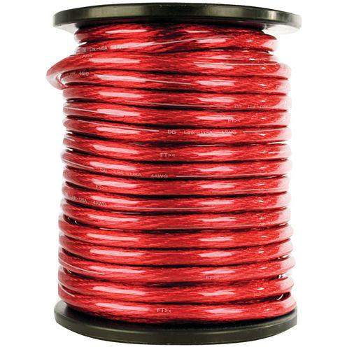 DB Link STPW4R100Z Elite Superflex Soft-Touch Power Wire (4 Gauge; Red; 100ft)