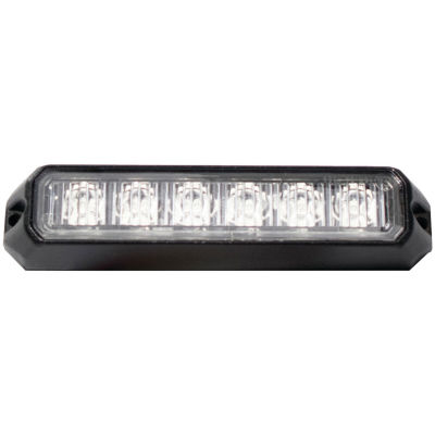 Race Sport Inc. RS-C3069SM6-W 6-LED Surface-MountLight Head with Strobe (White)