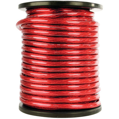 DB Link STPW0R50Z Elite Superflex Soft-Touch PowerWire (0 Gauge; Red; 50ft)