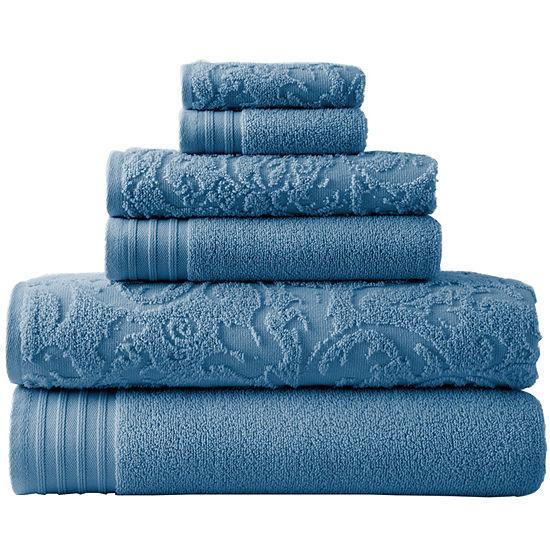 Pacific Coast Textiles™ Leaf Swirl Jacquard 6-pc. Bath Towel Set
