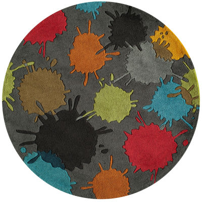 Momeni Lil Mo Paint Ball Round Rug