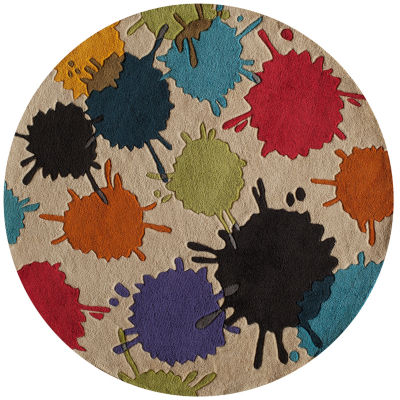 Momeni Lil Mo Paint Ball Round Rug