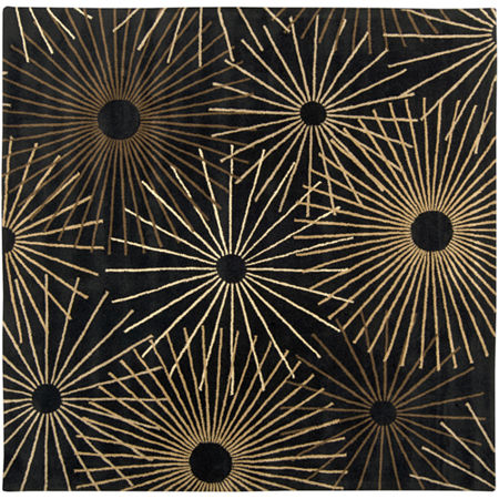 Decor 140 Oamaru Hand Tufted Square Indoor Rugs, One Size , Black