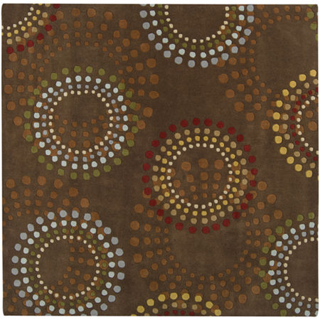 Decor 140 Oban Hand Tufted Square Indoor Rugs, One Size , Brown
