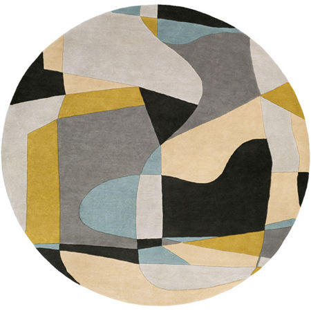Decor 140 Quetzai Hand Tufted Round Indoor Rugs, One Size , Green
