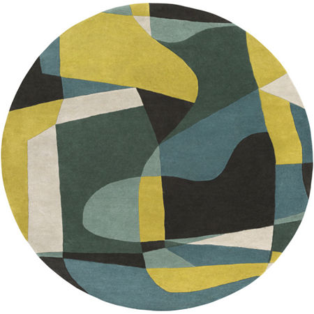 Decor 140 Quetzai Hand Tufted Round Indoor Rugs, One Size , Blue