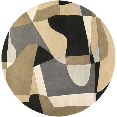 Decor 140 Quetzai Hand Tufted Round Indoor Rugs, One Size , Gray