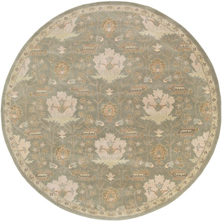 Decor 140 Maximian Hand Tufted Round Indoor Rugs, One Size , Green