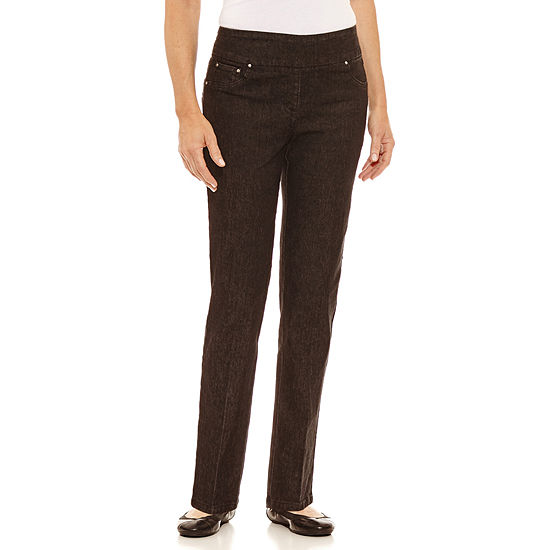 Lark Lane Womens Mid Rise Straight Leg Jean