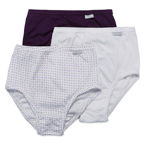 Jockey® Elance® 3-pk. Cotton Briefs - 1486 Plus