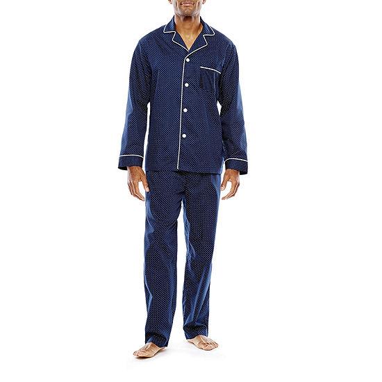 Stafford® Men's Sateen Long Sleeve/Long Leg Pajama Set - Big and Tall