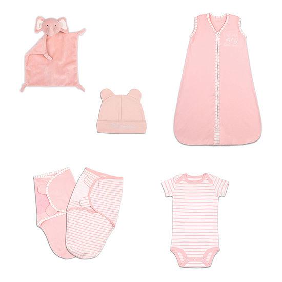 The Peanut Shell-Baby Girls 6-pc. Baby Gift Set