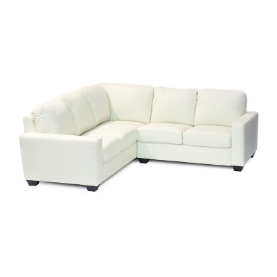 Leather Possibilities Track Arm 2-Pc Left Arm Sofa/Loveseat Sectional