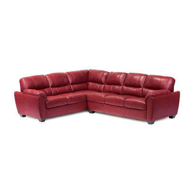 Leather Possibilities Pad Arm 2-Pc Right Arm Sofa Sectional
