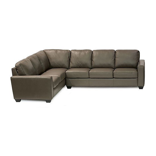 Leather Possibilities Track Arm 2-Pc Right Arm Sofa  Sectional