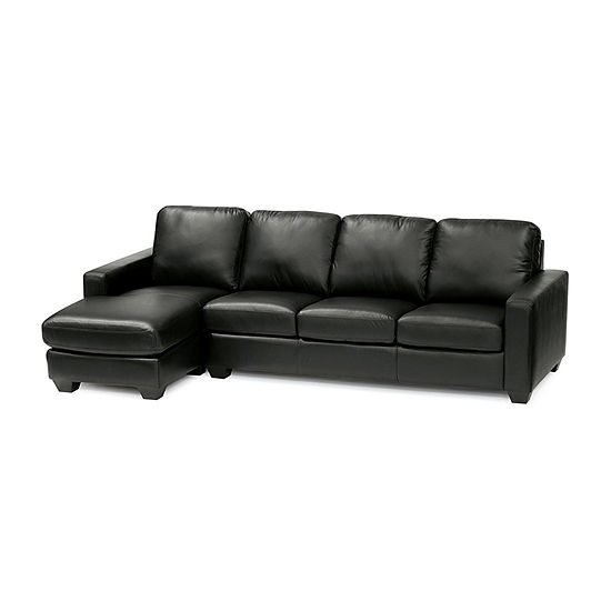 Leather Possibilities Track Arm 2-Pc Right Arm Sofa and Chaise Sectional