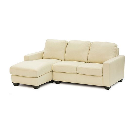 Leather Possibilities Track Arm 2-Pc Right Arm Loveseat and Chaise Sectional
