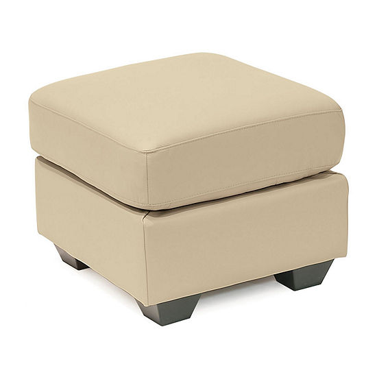 Leather Possibilities Pad Arm Ottoman